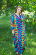 """The Glow Within"" kaftan in Glowing Flam pattern"