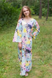"""The Unwind"" kaftan in Flamingo Watercolor pattern"