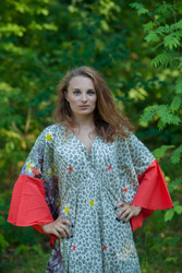 """Ballerina"" kaftan in Fun Leopard pattern"
