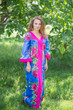 """The Glow Within"" kaftan in Large Fuchsia Floral Blossom pattern"