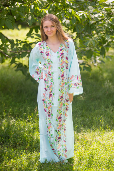 """The Glow Within"" kaftan in Little Chirpies pattern"