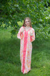 """The Glow Within"" kaftan in Ombre Fading Leaves pattern"