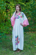 """Ballerina"" kaftan in One Long Flower pattern"