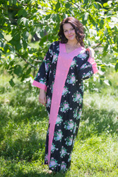"""The Glow Within"" kaftan in Pink Peonies pattern"