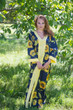 """The Glow Within"" kaftan in Sunflower Sweet pattern"