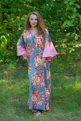 """Ballerina"" kaftan in Rosy Red Posy pattern"
