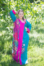 """The Glow Within"" kaftan in Vibrant Foliage pattern"