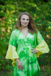 """Ballerina"" kaftan in Watercolor Splash pattern"