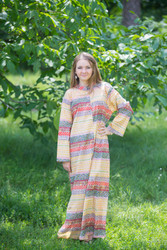 """Charming Collars"" kaftan in Abstract Geometric pattern"