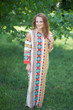 """Charming Collars"" kaftan in Aztec Geometric pattern"