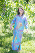 """Charming Collars"" kaftan in Batik Watercolor pattern"