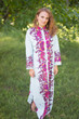 """Charming Collars"" kaftan in Big Butterfly pattern"