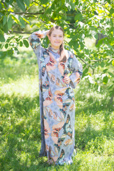 """Charming Collars"" kaftan in Butterfly Baby pattern"