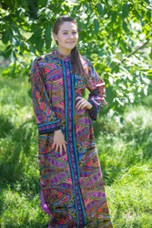 """Charming Collars"" kaftan in Cheerful Paisleys pattern"