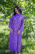 """Charming Collars"" kaftan in Chevron pattern"
