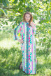 """Charming Collars"" kaftan in Diamond Aztec pattern"