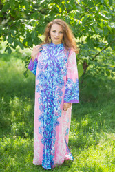 """Charming Collars"" kaftan in Falling Leaves pattern"