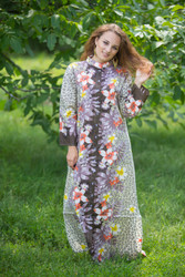 """Charming Collars"" kaftan in Fun Leopard pattern"