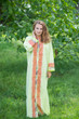 """Charming Collars"" kaftan in Geometric Chevron pattern"
