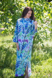 """Charming Collars"" kaftan in Ikat Aztec pattern"