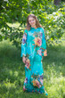 """Charming Collars"" kaftan in Large Floral Blossom pattern"