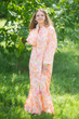 """Charming Collars"" kaftan in Ombre Fading Leaves pattern"