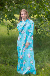 """Charming Collars"" kaftan in Pink Peonies pattern"
