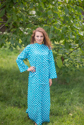 """Charming Collars"" kaftan in Polka Dots pattern"