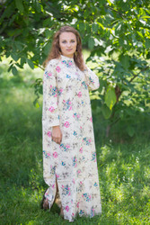 """Charming Collars"" kaftan in Romantic Florals pattern"