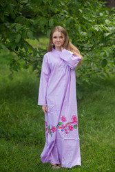 """Charming Collars"" kaftan in Swirly Floral Vine pattern"