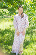 """Charming Collars"" kaftan in Tiny Blossoms pattern"