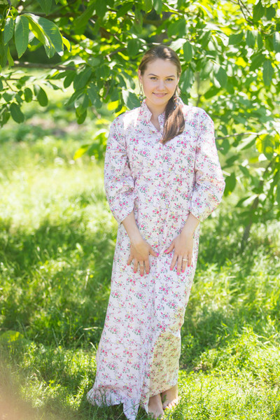 """""""Charming Collars"""" kaftan in Tiny Blossoms pattern"""