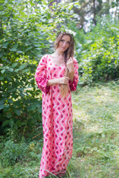 """The Unwind"" kaftan in Chevron Dots pattern"