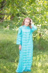 """Charming Collars"" kaftan in Tribal Aztec pattern"
