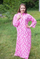 """Mandarin On My Mind"" kaftan in Chevron pattern"