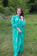 """Mandarin On My Mind"" kaftan in Damask pattern"
