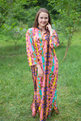 """Mandarin On My Mind"" kaftan in Diamond Aztec pattern"