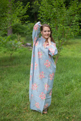 """Mandarin On My Mind"" kaftan in Faded Flowers pattern"