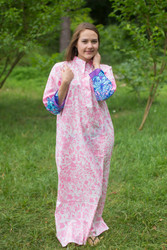"""Mandarin On My Mind"" kaftan in Falling Leaves pattern"