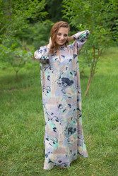 """Mandarin On My Mind"" kaftan in Flamingo Watercolor pattern"