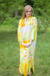 """Mandarin On My Mind"" kaftan in Floral Watercolor Painting pattern"