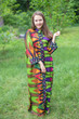 """Mandarin On My Mind"" kaftan in Glowing Flame pattern"