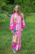 """Mandarin On My Mind"" kaftan in Jungle of Flowers pattern"