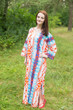 """The Unwind"" kaftan in Diamond Aztec pattern"