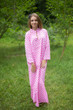 """Mandarin On My Mind"" kaftan in Polka Dots pattern"