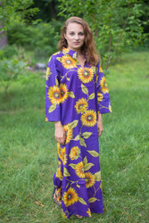 """Mandarin On My Mind"" kaftan in Sunflower Sweet pattern"