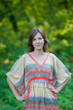 """Breezy Bohemian"" kaftan in Abstract Geometric pattern"