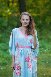 """Breezy Bohemian"" kaftan in Cabbage Roses pattern"