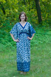 """Breezy Bohemian"" kaftan in Chevron Dots pattern"