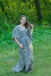 """Breezy Bohemian"" kaftan in Chevron pattern"